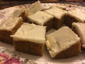 Recipe: Moist Pumpkin Bars with Cream Cheese Frosting
